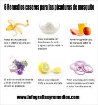 remedios para las picaduras de mosquito