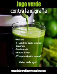 jugo verde contra la migraña