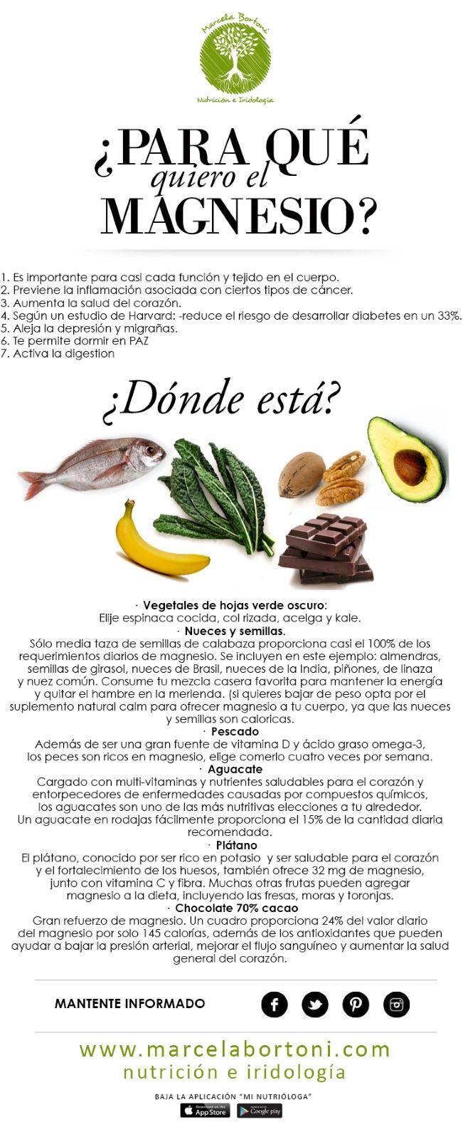 Para que sirve el magnesio y donde podemos encontrarlo - Alimentos contra diabetes ...