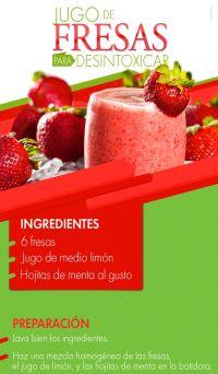 jugo de fresas para desintoxicar