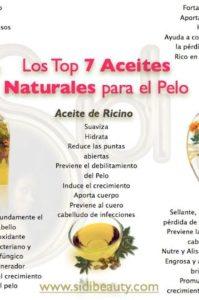 aceites naturales para el pelo