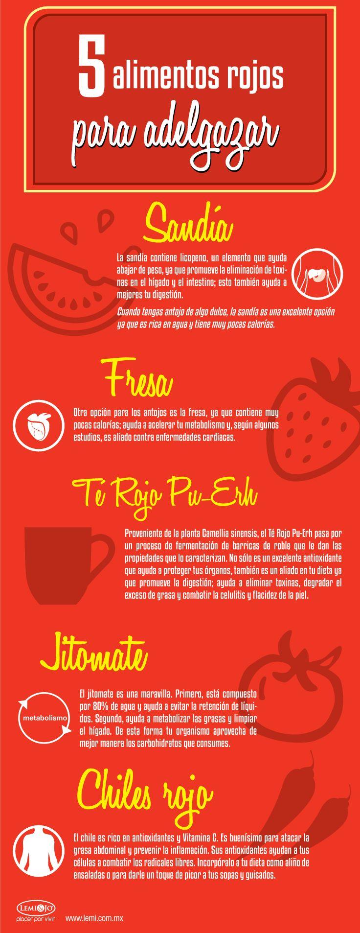5 alimentos rojos para adelgazar - Alimentos dieteticos para adelgazar ...