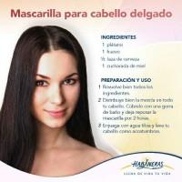 mascarilla para el cabello delgado