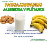 almendra y plátano para la fatiga y el cansancio