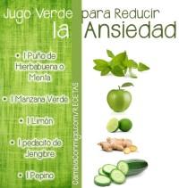 jugo verde para reducir la ansiedad