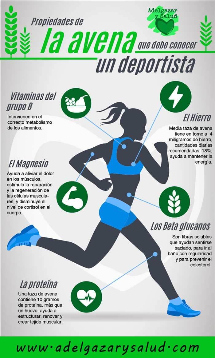 Beneficios de la avena para deportistas