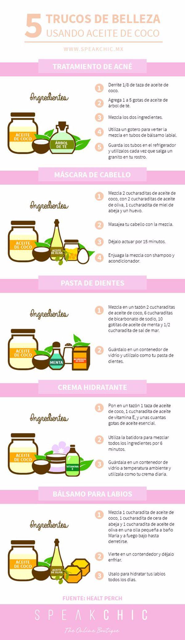 aceite de coco y belleza
