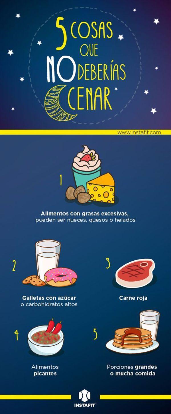 alimentos que no deberías cenar