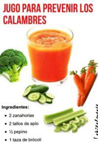 jugo para prevenir los calambres musculares