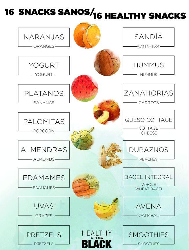 16 colaciones saludables para picar entre horas