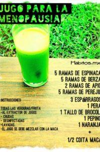 jugo para la menopausia