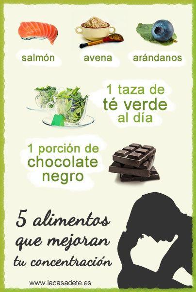 alimentos que mejoran la concentración