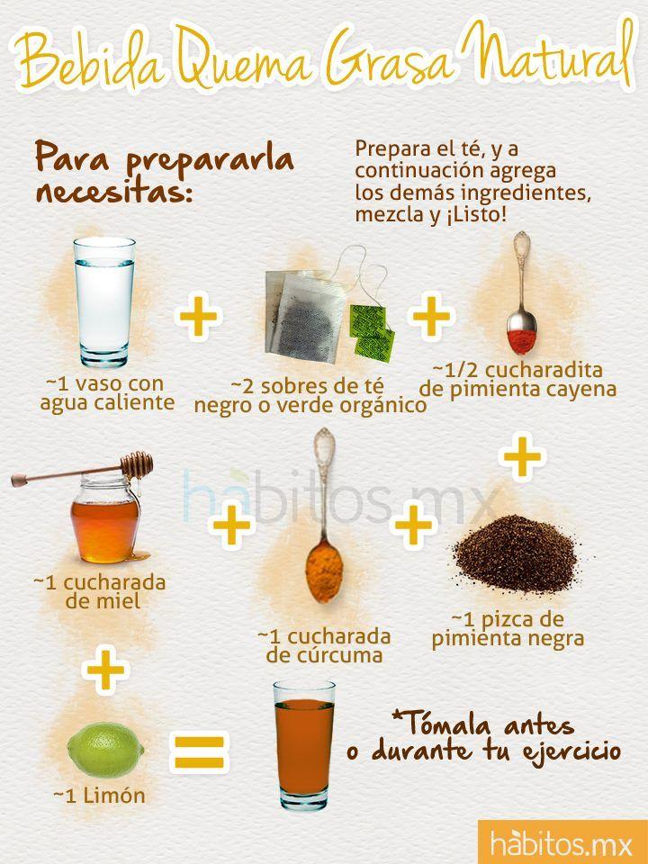 Como preparar una bebida quema grasa natural | Infografías