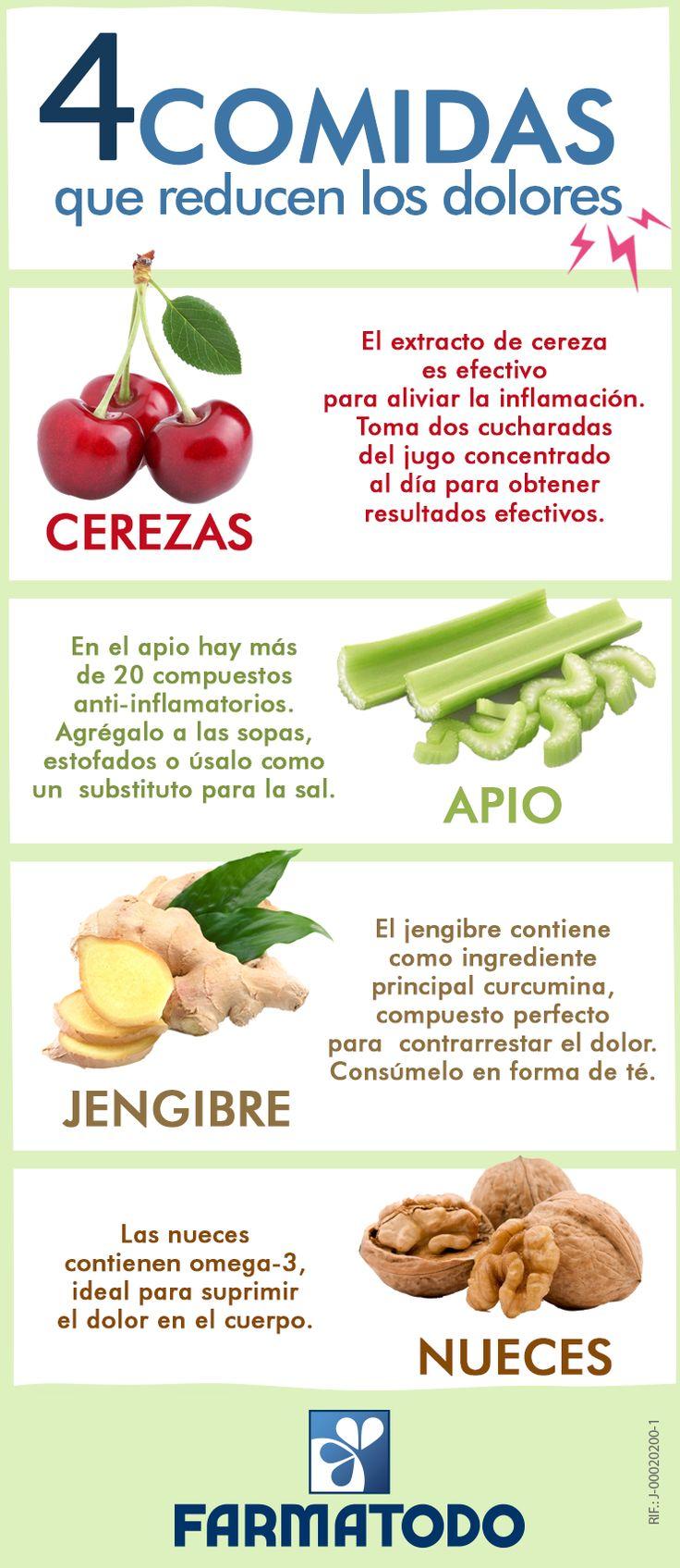comidas que reducen los dolores