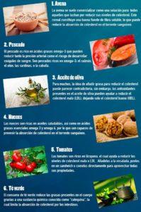 alimentos para reducir el colesterol