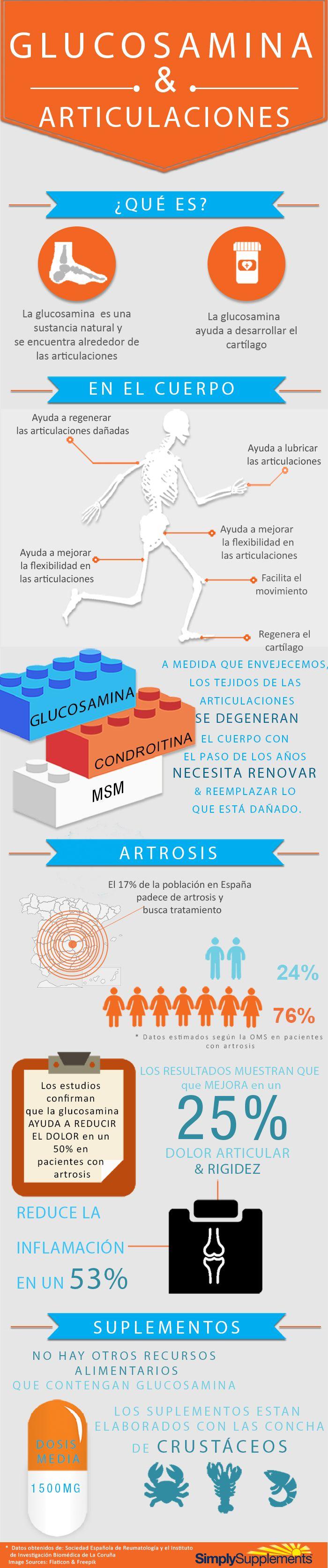 infografía glucosamina y condroitina