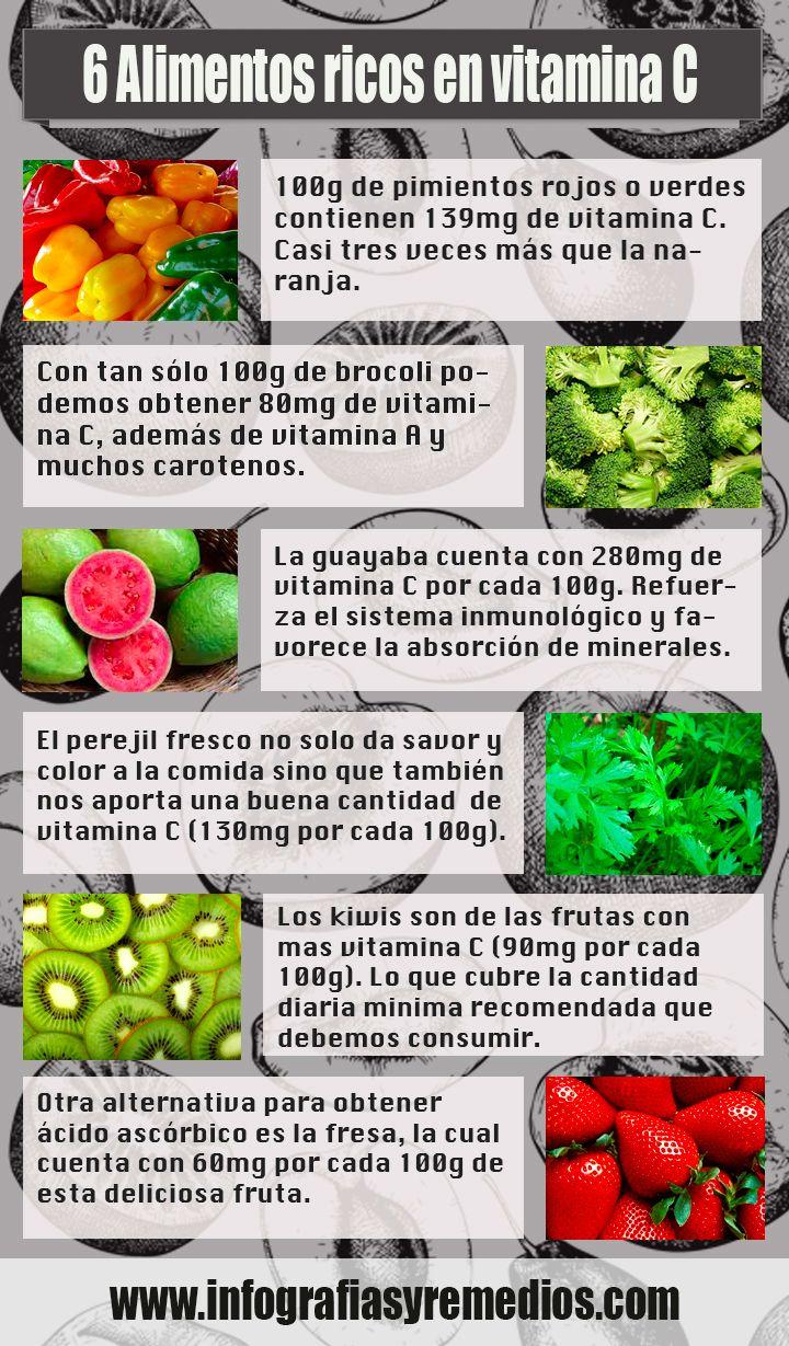 6 alimentos que contienen mas vitamina c que las naranjas infograf as y remedios - Que alimentos son antioxidantes naturales ...