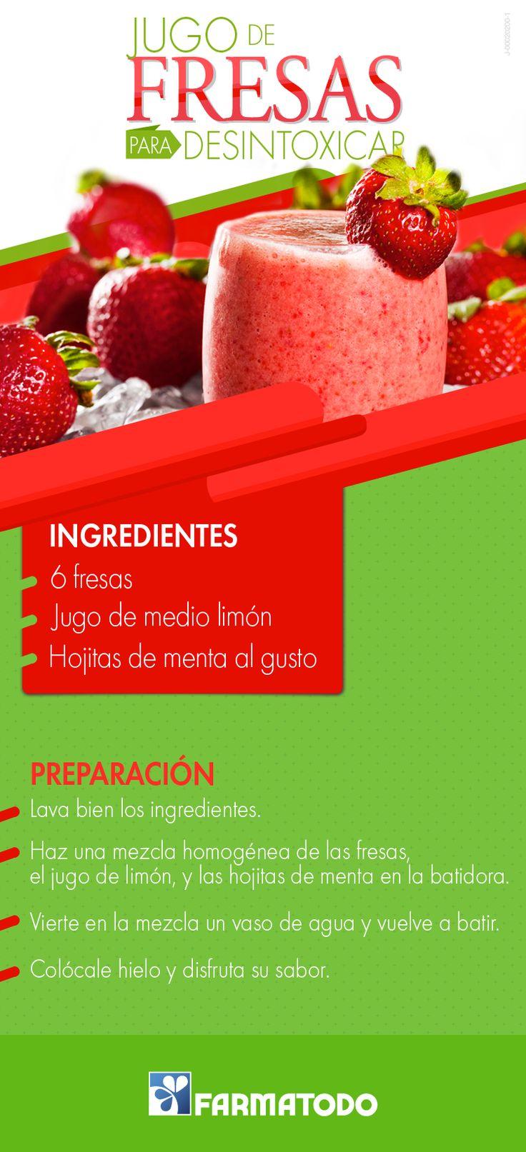 Jugo de fresas para desintoxicar infograf as y remedios - Como hacer zumo de fresa ...