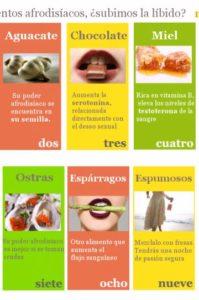 alimentos afrodisiacos para aumentar la líbido