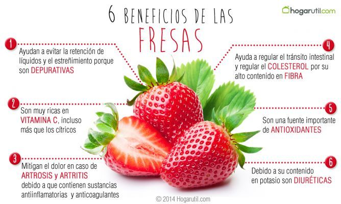 6 beneficios de las fresas infograf as y remedios for Te verde beneficios para la salud