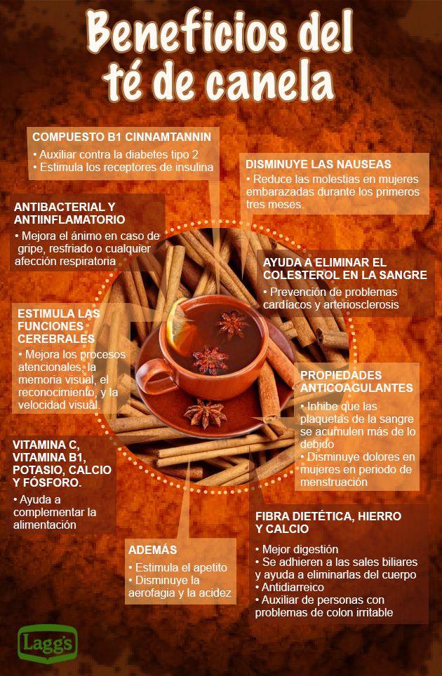 Los saludables beneficios del té de canela | Infografías y