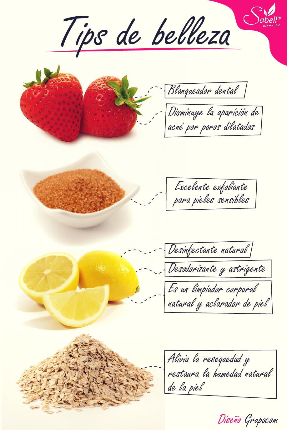 4 remedios caseros para el cuidado de la piel infograf as y remedios - Que alimentos son antioxidantes naturales ...
