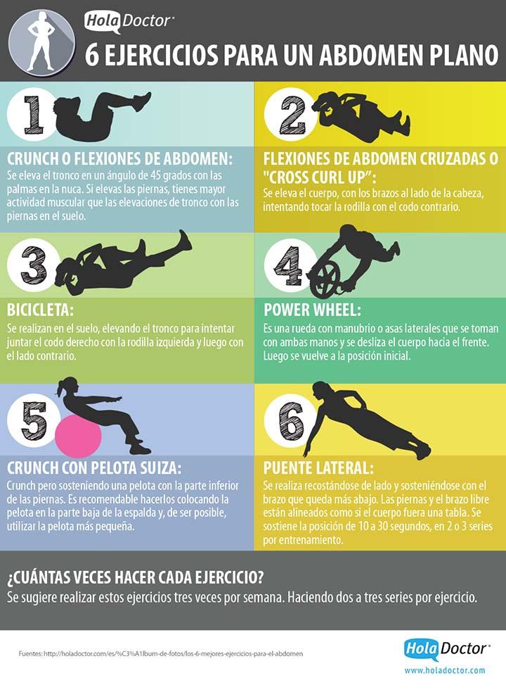ejercicios para un abdomen plano