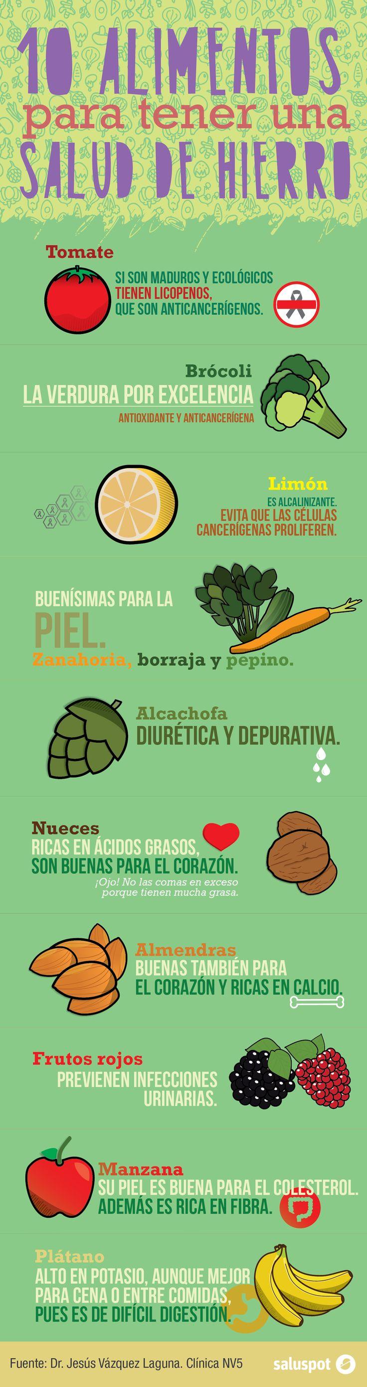 alimentos para tener una salud de hierro