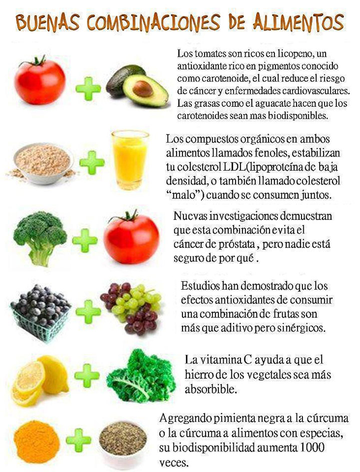 buenos alimentos para consumir combinados
