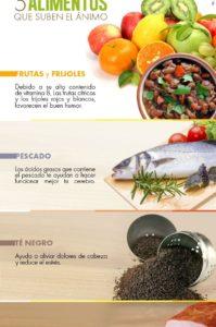 alimentos que suben el estado de ánimo