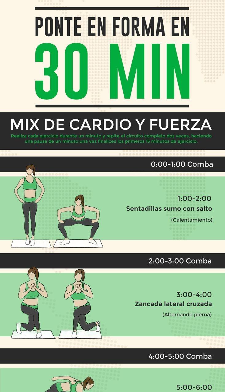 Ponte en forma en 30 minutos rutina de cardio y fuerza for Cocinar en 30 minutos