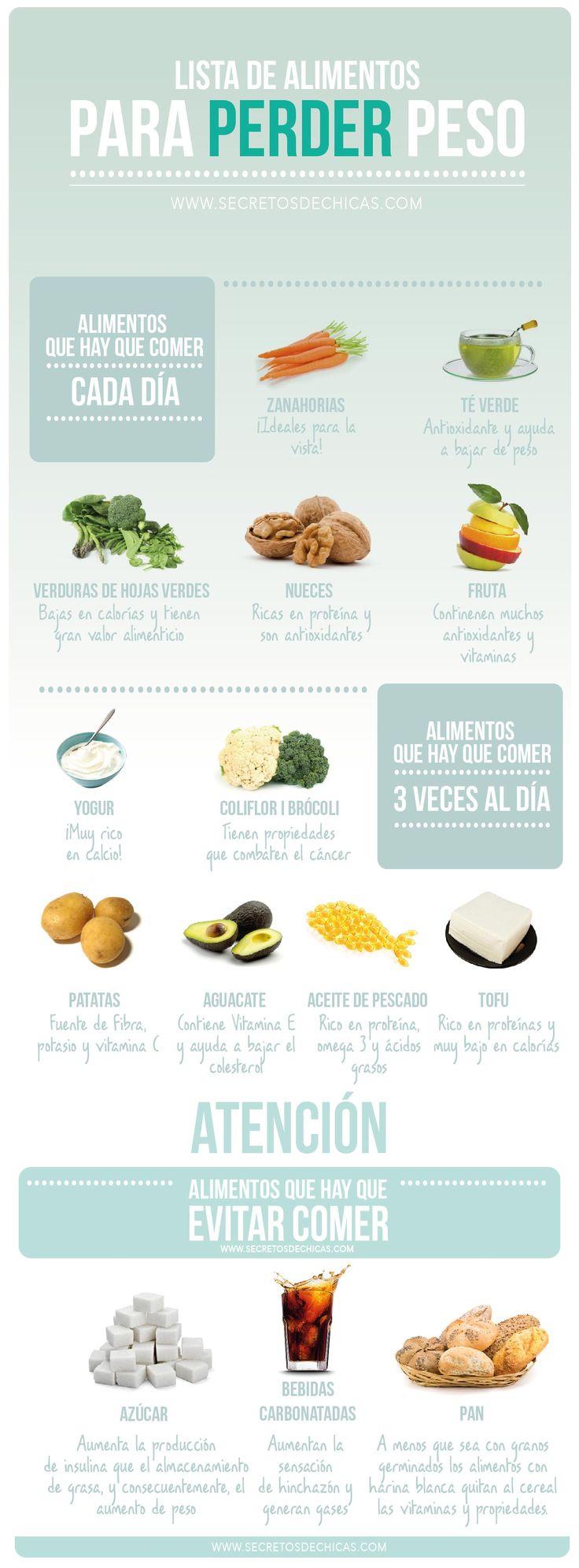 alimentos para perder peso