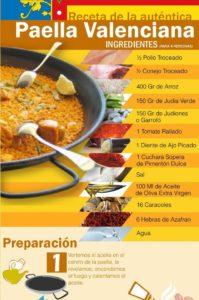 receta de la paella valenciana