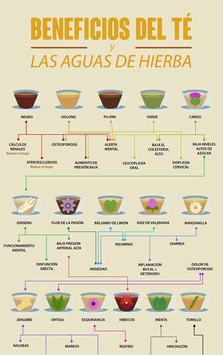 beneficios del té y las aguas de hierbas