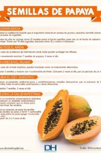 para que sirven las semillas de papaya