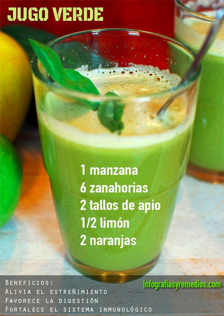 jugo verde para el estreñimiento