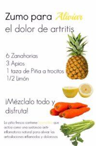 zumo de piña para la artritis