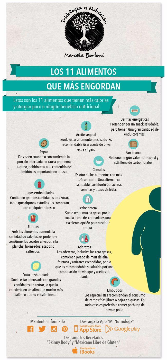 11 alimentos que engordan m s de lo que crees infograf as y remedios - Alimentos q no engordan ...