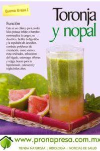 jugo de nopal y toronja