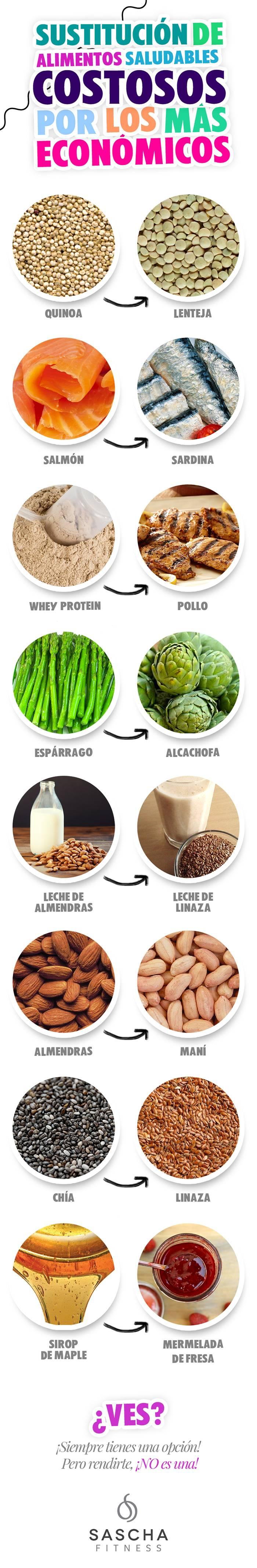 sustitutivos de comidas saludables