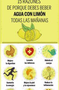 el agua con limón en ayunas y sus beneficios