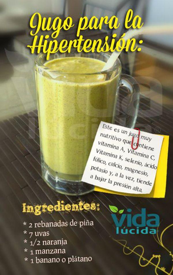jugo verde para la hipertensión