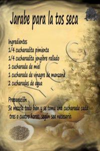 jarabe natural para la tos seca