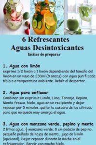 recetas de aguas detox