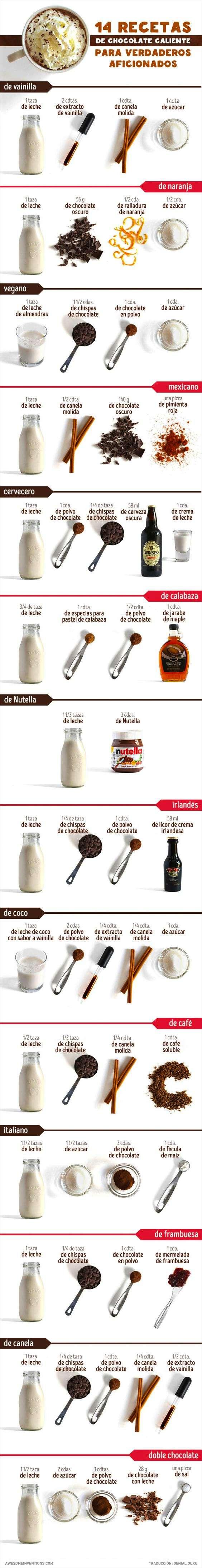 cómo hacer chocolate caliente