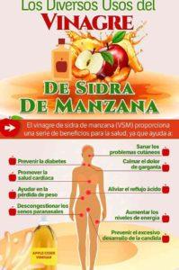 infografía sobre el vinagre de sidra de manzana