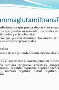 valores y causas de la gamma gt alta