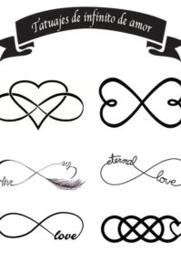 tatuajes de infinito de amor