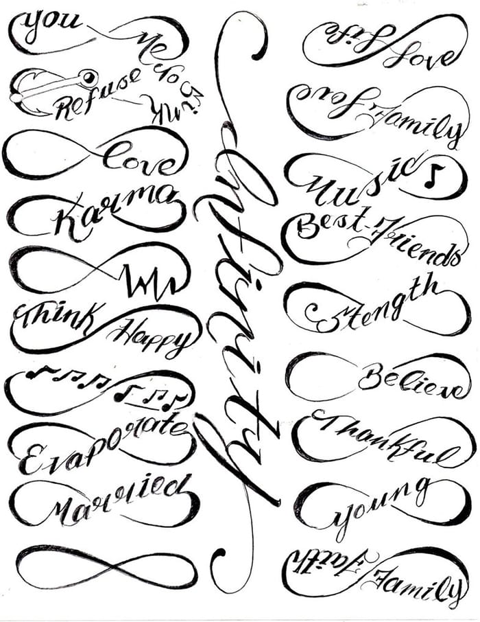 tatuajes de infinito para hombres