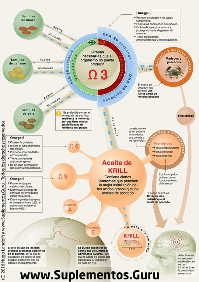 infografía sobre el aceite de krill